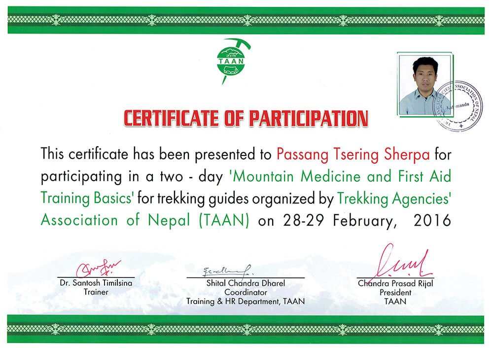 NATHM Certificate Image