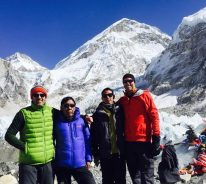 Everest Base Camp Heli Trek Group at Base Camp