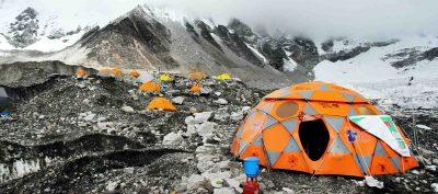 sleep at everest base camp