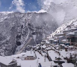 Trekking during winter in Nepal