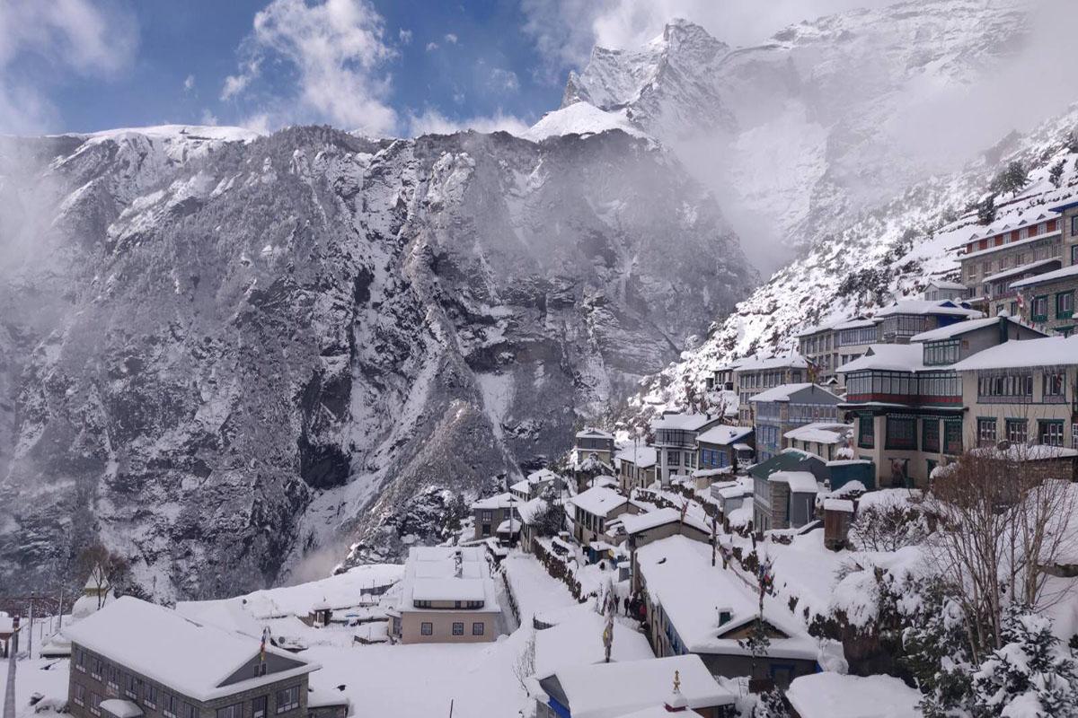 Trekking during winter in Nepal